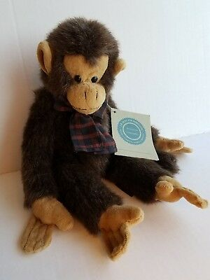 JB Bean Jointed Monkey TBC Boyd's Collection Series Stuffed Animal Toy 1985-98