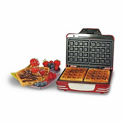 Ariete Waffle Maker Non-Stick Cooker + Safety Lock