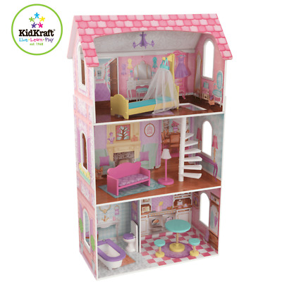 Hove Wooden Toy Play Doll House with Accessories