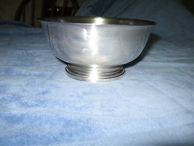 """Gorham Footed Silverplate Paul Revere Bowl 3"""" High 6"""" Diameter Never Used"""