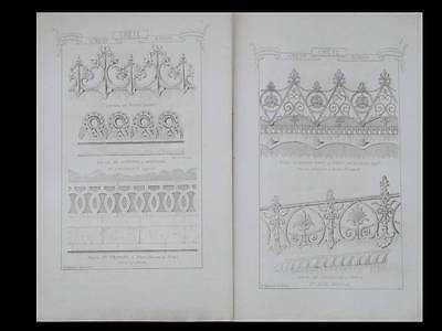 Architecture, Cretes - 1874 - Materiaux Et Documents D'architecture Raguenet
