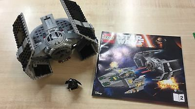 Lego 75150 Tie Advanced Star Wars + Istruzioni + Darth Vader Minifigure
