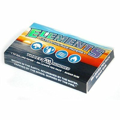 300 Elements Safe Chemical Free Ultra Thin Rice Cigarette Rolling Paper Leaves