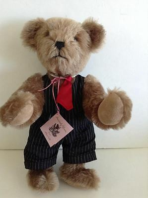 "Mohair Jointed Bear Jesse 14"" Handcrafted by designer Rhea UHL"