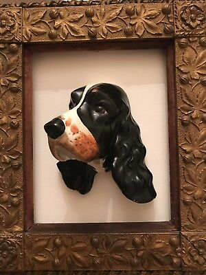 1930s Crown Devon Fieldings Spaniel Dog Wall Hanging Exquisite Model Of Ware 204
