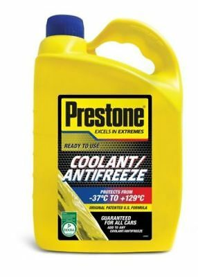 Prestone Antifreeze coolant 4L red green blue mixes with all makes pre mix