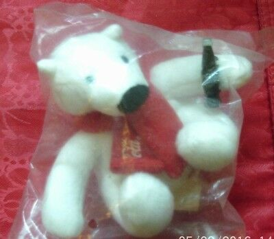 Coca Cola Plush Bear New In Plastic Bag