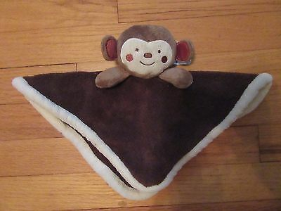 HTF/RARE Babies R Us Brown Plush Monkey Security Blanket/Lovey