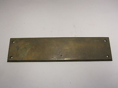 "YALE 1730 cast brass door push plate - 3""x12"" size"