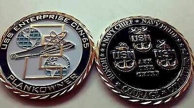 USS ENTERPRISE BIG E CVN-65 Chief CPO  PLANKOWNER Coin