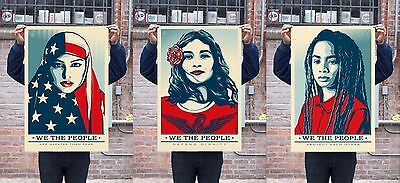 3 SETS of WE THE PEOPLE 24 X 36 LITHOGRAPH  SET : OBEY : SHEPARD FAIREY