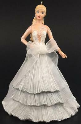 2008 Celebration Barbie Hallmark Ornament #9 Silver Dress