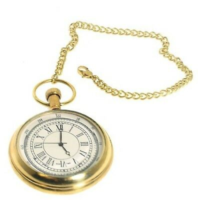 Solid Brass Pocket Watch Chain. Superior Ship Timekeeper Or Steampunk Costumes