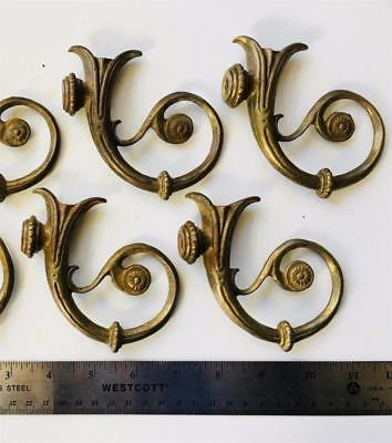 "Vintage Fancy European Solid Brass Chandelier Arm 3 3/4"" Old New stock FREE shpg"