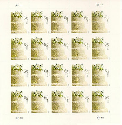 US, 4602 Wedding Cake 65c sheet of 20 stamps Mint Never Hinged