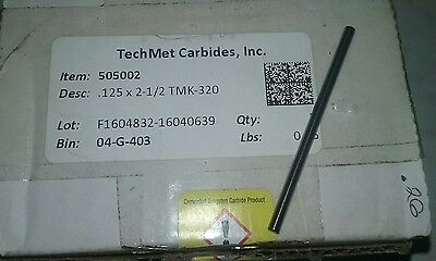 TechMet precision ground carbide rod .125 x 2-1/2 TMK-320
