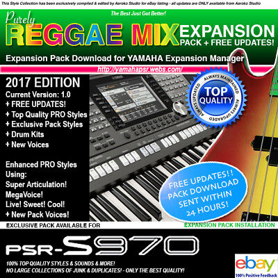 PSR-S970 REGGAE MIX 2017 PRO QUALITY styles/voice EXPANSION PACK