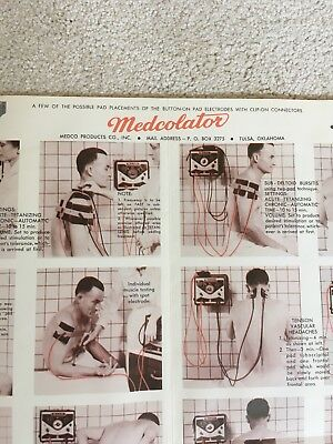 Vintage Medical Equipment Poster Medcolator Chiropractic Physical Therapy