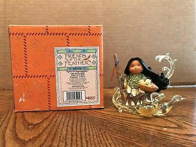 "Enesco Friends Of The Feather ""Spirit Of Dependability"" Girl With Geese Spirit"