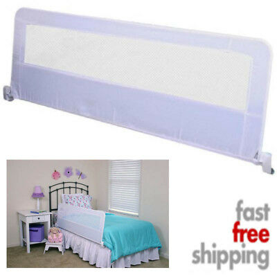 Extra Long Safety Bed Rail For Toddler Kids Swing Down Steel Adjustable 54 Inch