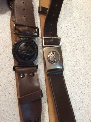 Pair Of Vintage Boy Scouts Belts And Buckles