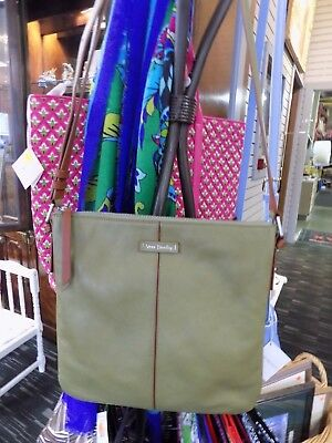 Vera Bradley Gallatin leather Crossbody gently used cactus green