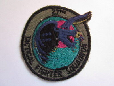 Post Vietnam 27th Tactical Fighter Squadron Sleeve Patch ~ Flight Suit Removed!!