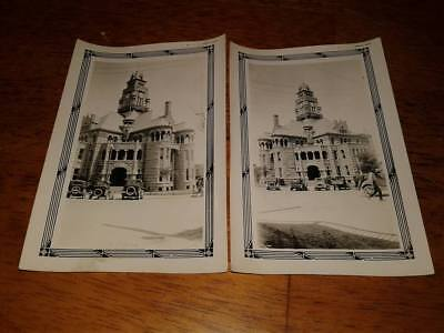 2 late 1920s Original Photos of the Wise County Courthouse in Decatur, Texas