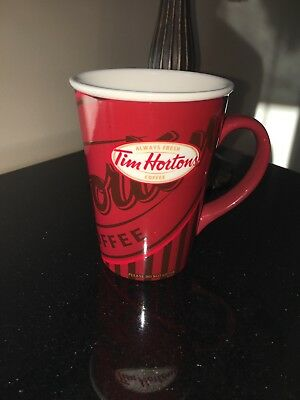 Tim Hortons Limited Edition #008 2008 Red Stripe Logo Coffee Mug