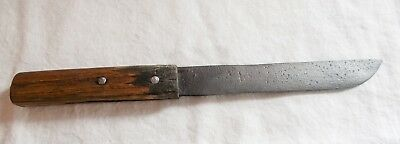 Vintage Antique Hand Forged Steel Fixed Blade Butcher Knife Unmarked