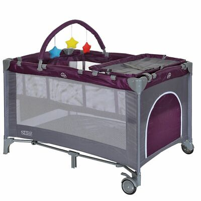 Baby Travel Cot Playpen Foldable Babycenter Playard + Changing Table + Bassinet