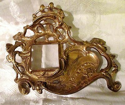Vintage Art Nouveau Style Brass Inkwell Holder Andrea By Sadek Ornate Victorian