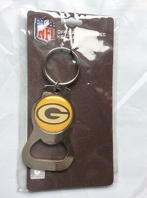 Green Bay Packers Bottle Opener Keychain  NFL Metal Key Ring Beer Chain (L_517)