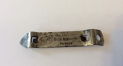 SCHLITZ BEER METAL BOTTLE CAN OPENER Kansas  MILWAUKEE WISCONSIN Bareware L_410