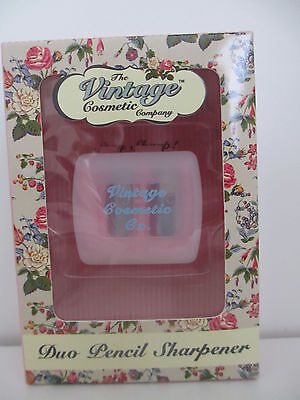 BNIB The Vintage Cosmetic Company Duo Pencil Sharpener in pink colour