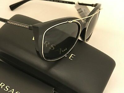 NWT Versace Sunglasses VE 4336 GB1/87 Black/Gold Frame with Gradient