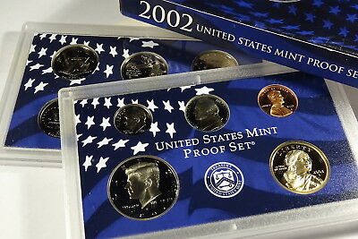 2002  S COMPLETE PROOF SET OF * 10 * COINS  US Mint Box w COA UNSEARCHED