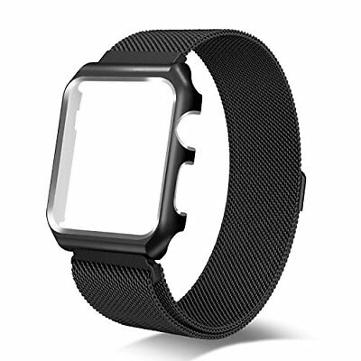 iWatch Band & Metal Case For Apple Watch Series 3 2 1 Sport Edition 42mm Black