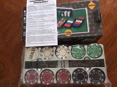 Professional Poker Chips Set 200 Pieces Box Cardinal Brand New, Sealed