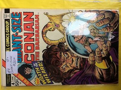 #4  Giant-Size  Conan The Barbarian  Vf+     Sale 50% To 70% Discount