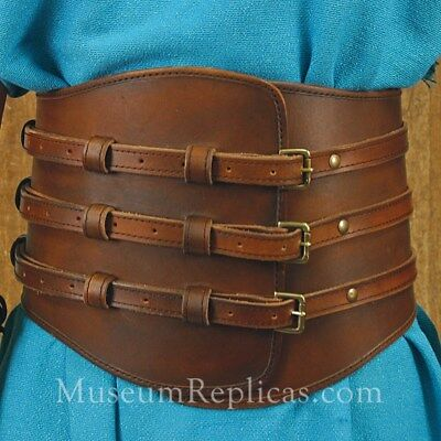 Thick Leather Kidney Belt Viking HEMA LARP SCA Cosplay Assassin Creed L to XL