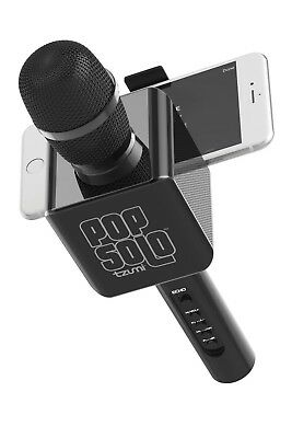 Pop Solo Karaoke Microphone Bluetooth Wireless Smart Phone Black Tzumi Brand New