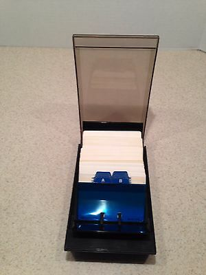 """Rolodex Covered Card File with 4"""" x 2 1/1"""" Cards and Dividers"""