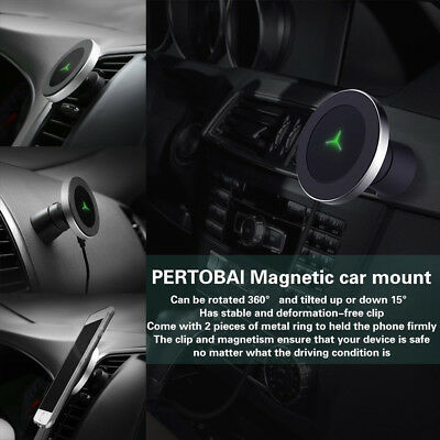 Samsung S9 S8 iPhone 8 X XR XS Qi Wireless Car Charger Magnetic Mount Holder lot