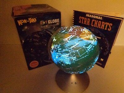 NEW  Star Constellations & World Globe View with Seasonal Star Charts FREE SHIP