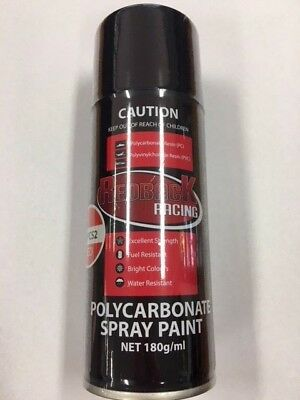 6 X Cans Redback Racing Polycarbonate Spray Paint Aerosol 180Ml  Choose 6 Colour