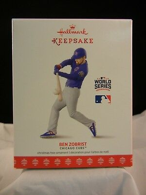 Hallmark Keepsake Ornament 2017 Ben Zobrist - Chicago Cubs - MLB NIB