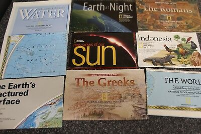 National Geographic Supplements  and Maps Huge Lot!