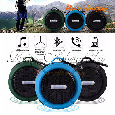 Mini Waterproof Wireless Bluetooth Speaker Shower Car Suction Handsfree Mic Cup