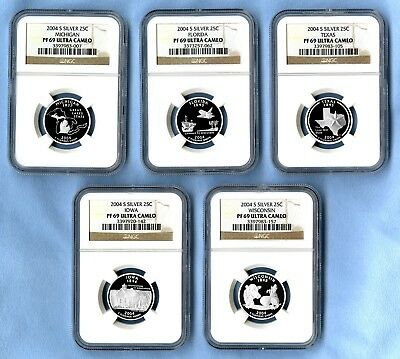 2004 S Silver State Quarters Set NGC PF69 Ultra Cameo